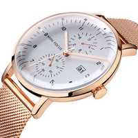 MINI FOCUS MF0052G Business Style Stainless Steel Men Watch