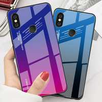 Bakeey Gradient Color Tempered Glass + Soft TPU Back Cover Protective Case for Xiaomi Redmi Note 6 Pro