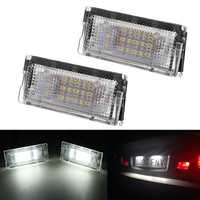 LED License Number Plate Lights Lamp Canbus Error Free White Pair for BMW E46 1998-2005