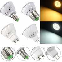 E27 E14 GU10 MR16 3.5W 27 SMD 5730 Non-Dimmable LED Warm White White Spot Lightt Lamp Bulb AC110/220V