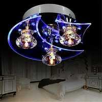 Retro Dining Room Crystal Chandelier Ceiling LED Light Pendant Moon Star Lights