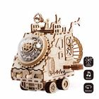 Meilleurs prix DIY 3D Wooden Chip Puzzle Music Box Toys for Kids DIY Crafts Ornament