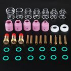 Discount pas cher 38Pcs TIG Welding Stubby Torch Ring Slot Joint Clamp Glass Cup for WP-17/18/26