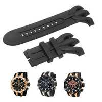 KALOAD Black Watch Band Silicone Rubber Strap Replacement For Invicta Venom Chronograph Reserve