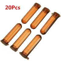 20Pcs 5mL Round Bottom Centrifuge Tube Graduated Brown Polypropylene EP Tube