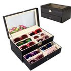 Meilleurs prix 12 Black Eyeglasses Sunglass Oversized Storage Display Case Glasses Organizer
