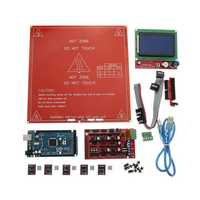 3D Printer Mainboard Kit RAMPS 1.4 + Arduino Mega 2560 + DRV8825 + 12864LCD + PCB Heat Bed MK2B