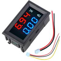 5pcs nMini Digital Voltmeter Ammeter DC 100V 10A Voltmeter Current Meter Tester Blue+Red Dual LED Display