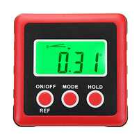 4 x 90° Digital Bevel Box Gauge Angle Finder Protractor Waterproof LCD Green Backlight Display