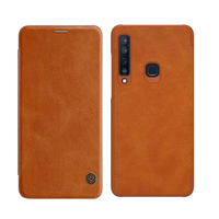 Nillkin Leather Flip Auto Sleep Card Holder Protective Case for Samsung Galaxy A9 2018