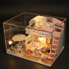 Meilleurs prix Hoomeda M033 Pink Loft DIY House With Furniture Music Light Cover Miniature Decor Toy