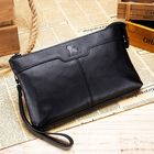 Discount pas cher Men Genuine Leather Large Capacity Multi-functional Business Vintage Phone Bag Clutch Bag