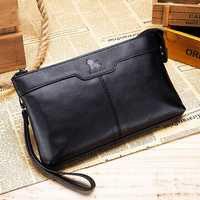 Men Genuine Leather Large Capacity Multi-functional Business Vintage Phone Bag Clutch Bag