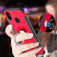 Bakeey™ Shockproof Soft TPU Back Cover Protective Case with Ring Holder for Xiaomi Redmi Note 6 Pro