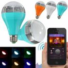 Meilleurs prix E27/E26 Wifi Control Music Smart Audio Speaker LED Multicolor Bulb Light Lamp AC 90-264V