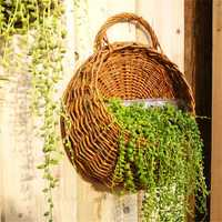 Flower Planter Wall Hanging Basket Ornamental Vases Garden Outdoor Indoor Holder Home Decoration