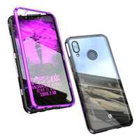 Bakeey 360° Magnetic Adsorption Upgraded Version Tempered Glass & Metal Flip Protective Case for Huawei Nova 3