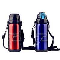 800ml Stainless Steel Double Cover Thermal Insulation Kettle Vacuum Thermos Flask Travel Mug