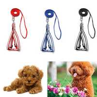 Adjustable Luminous Pet Neck Harness Dog Cat Reflective Nylon Leash Lead Back Chest Strap Safe Belt