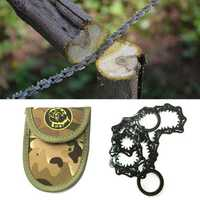 52cm Stainless Steel Outdoor Survival Pocket Chain Saw Multi Functional Camping Fishing Tool