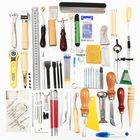 Acheter 59 Pieces Leather Craft Tool Kit for Hand Sewing Stitching Stamping Set Saddle Making Tool