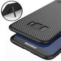 Bakeey™ Kickstand Bracket Ultra Thin Carbon Fiber Soft TPU Case for Samsung Galaxy S8 5.8 Inch