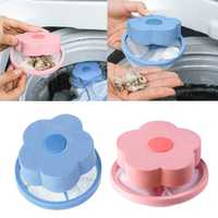 Honana Home Flower Shape Washing Machine Cleaning Accessory Lint Hair Filter Remove Tool Mesh Bag