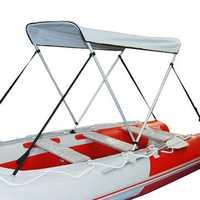 Waterproof Boat Bimini Top Folding Canopy Aluminium Alloy Rear Ship UV Tent Sunshade