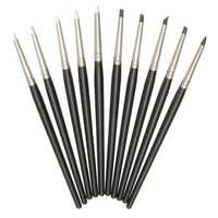 10 Pcs Soft Silicone Polymer Clay Rubber Pen Clay Sculpting Modelling Clay Crafts Tools 15CM