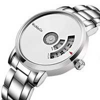 Fashion Creative Dial Stainless Steel Band Quartz Watch