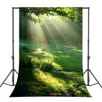 5x7FT Vinyl Forest Sunshine Photography Backdrop Background Studio Prop