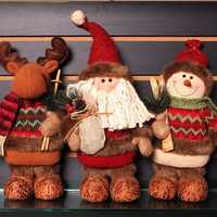New Christmas Decorations Artificial Reindeer Doll Flannel Christmas Gifts Toys Christmas Decoration