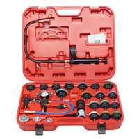 27 Pcs Radiator Pressure Gauge Tester Vacuum Purge Cooling System Refill Tool Kit