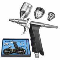 Dual Action Airbrush Gun Kit Pneumatic Gun Set with Airbrush Hose and Spray Gun