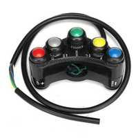 7 Buttons 22mm Motorcycle ATV Handlebar Headlight Fog light Horn Switch Button