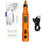 Prix de gros HILDA 2 Pack MD3326C USB Charging Rotary Tool Kit 3.6V Cordless Variable Speed Electric Grinder Drill with Accessories