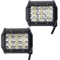 4 Inch LED Spot/Flood Beam Work Light Bar DC10-30V 27W 2295LM 6000K for Off Road Vehicle Truck Boat