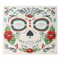 10Pcs Face Cosmetic Waterproof Hollow Design Tattoo Stickers