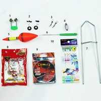 ZANLURE 10pcs Ocean Rock Fishing Accessories Fishing Gear Set Perfect Portable Fishing Equipment