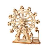 Robotime TG401 Ferris Wheel Modern 3D Wooden Puzzle Model Building Learning Education