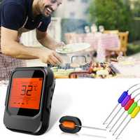 6 Probes Wireless Smart BBQ Thermometer Meat Food bluetooth Wifi For IOS Android