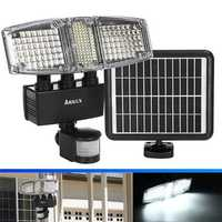 ARILUX® Three Head 178 LED Solar Power Flood Wall Light PIR Motion Sensor Outdoor Garden Waterproof Lamp