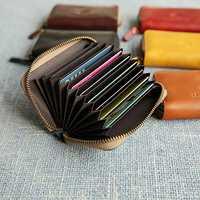 Men Genuine Leather Original Vintage Card Holder