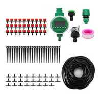 DIY Irrigation System Water Timer Auto Sprinkler Plant Watering with Adapter Irrigation Timer