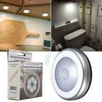 6LED Wireless PIR Motion Sensor Night Light Wall Cabinet Wardrobe Drawer Lamp
