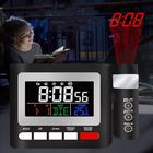 Discount pas cher LED Digital Alarm Clock FM Radio Projection Alarm Clock With Dual Alarm Snooze Function USB Charging With Time Projector Snooze Function