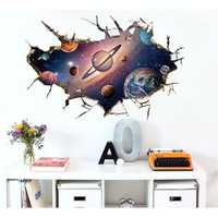 Miico 3D Creative PVC Wall Stickers Home Decor Mural Art Removable Starry Sky World Wall Decals