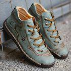 Meilleurs prix Menico Men Hand Stitching Vintage Microfiber Leather Lace Up Comfy Soft Ankle Boots