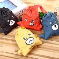 Honana WX-G11 Drawstring Cotton Linen Cute Gift Bags Pouches Travel Bags Wedding Decoration Storage Bags