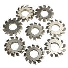 Offres Flash 8pcs M3 PA20 Inside Bore Diameter 22mm #1-8 HSS Involute Gear Milling Cutter